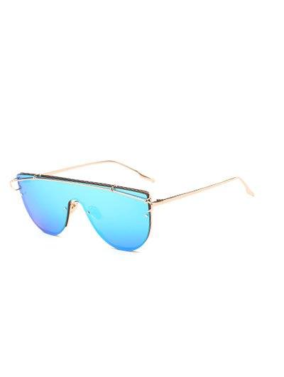 Cross-Bar Mirrored Sheild Sunglasses