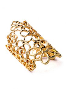 Hollowed Flower Ring - Golden