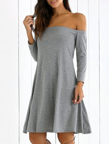 Long Sleeves Off Shoulder Dress