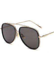 ضعف مقاسات الطيار النظارات الشمسية - أسود
