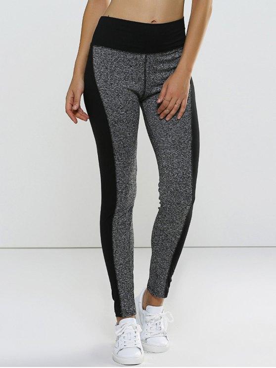 buy Color Block Curve Leggings - GRAY S