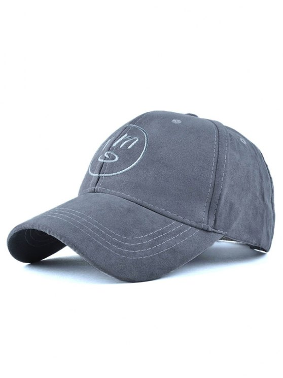 unique Round Faux Suede Baseball Hat - GRAY