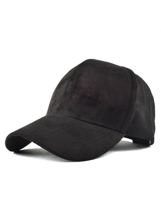 Graffiti Faux Suede Baseball Hat - BLACK  Mobile