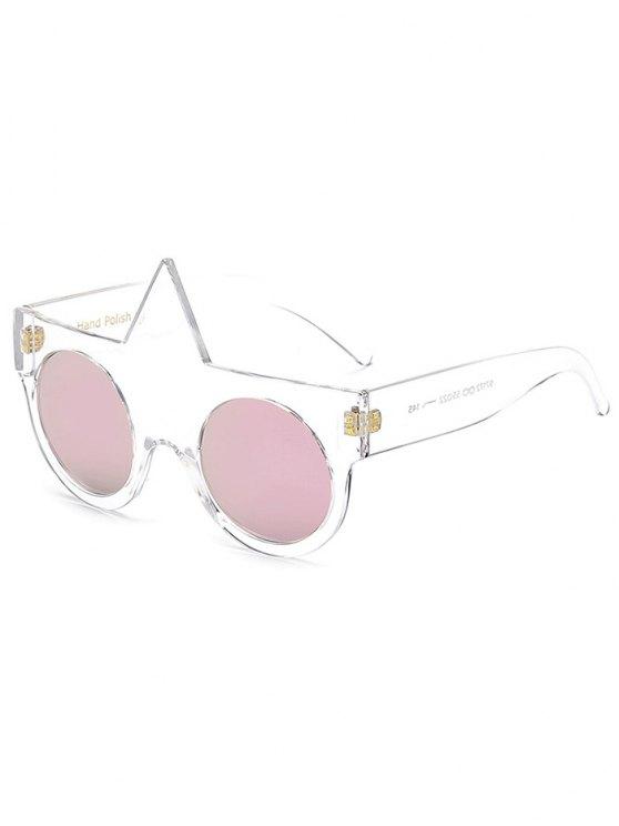 online Unicorn Round Mirrored Sunglasses - PINK