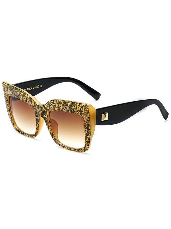 Remache de corteza de gran tamaño gafas de sol - Amarillo