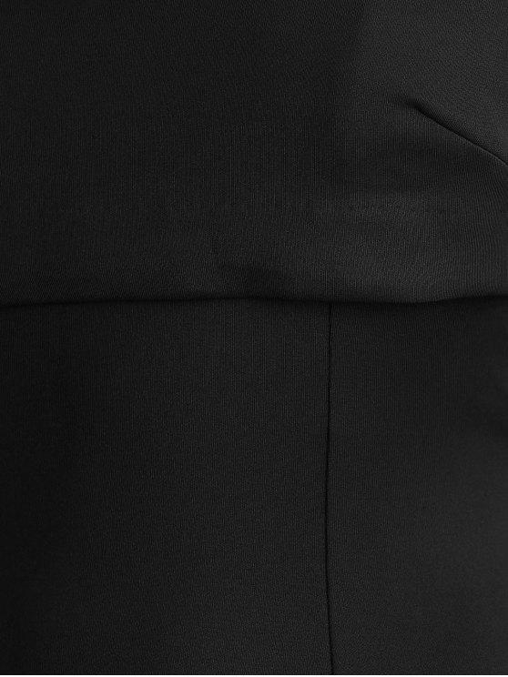 Overlayed Strappy Midi Dress - BLACK L Mobile