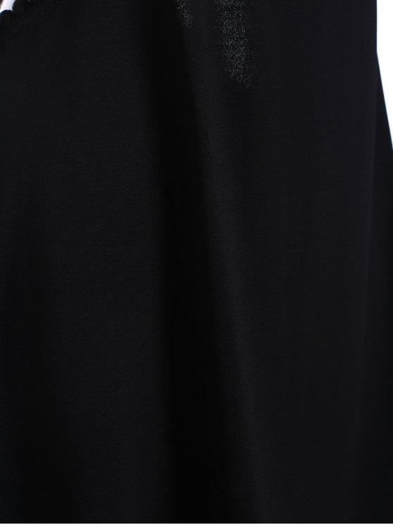 Black Cut Out Semi Formal Mini Dress - BLACK M Mobile