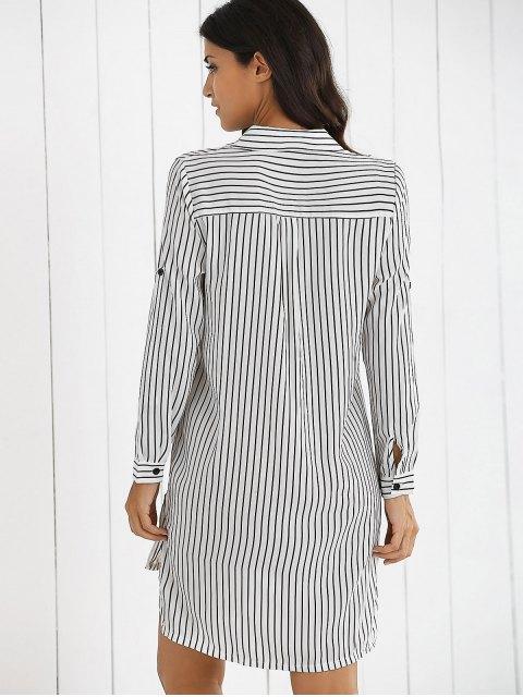 shops Boyfriend Striped Shirt Dress - WHITE M Mobile