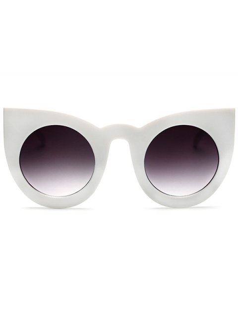outfits Round Lens Cat Eye Sunglasses - WHITE  Mobile
