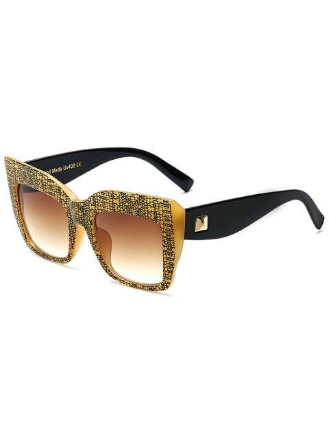 affordable Rivet Bark Oversized Sunglasses - YELLOW  Mobile