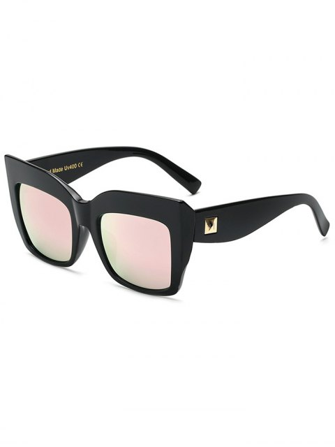 buy Rivet Mirrored Oversized Sunglasses - PINK  Mobile