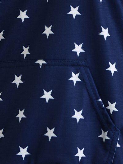 Star Off Shoulder Sweatshirt - DEEP BLUE XL Mobile