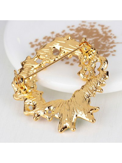 Christmas Wreath Dove Brooch - WHITE  Mobile