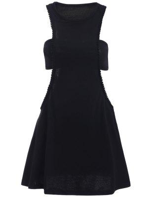 Black Cut Out Semi Formal Mini Dress - Black