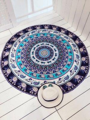 Circle Elephant Print Cover Up - Purple