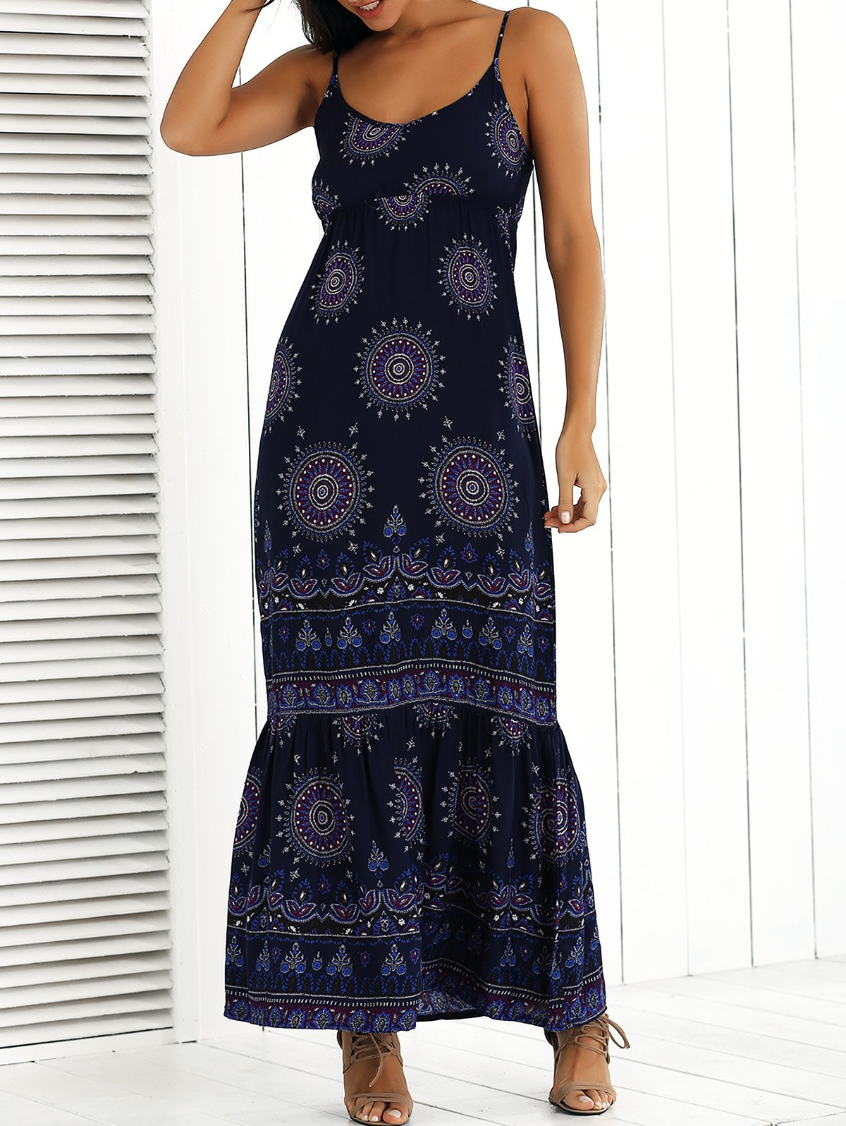 Printed Maxi Cami Dress