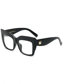 Transparent Lens Square Oversized Sunglasses