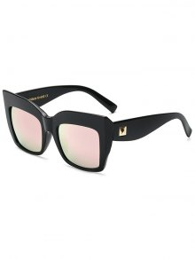 Rivet Mirrored Oversized Sunglasses