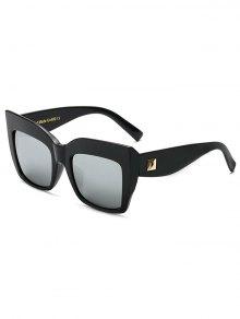 Rivet Mirrored Oversized Sunglasses