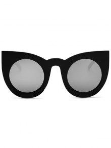 Black Cat Eye Sunglasses  round lens mirrored cat eye sunglasses black sunglasses zaful