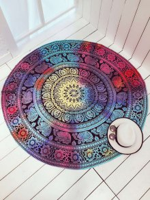 Colorful Elephant Circle Cover Up