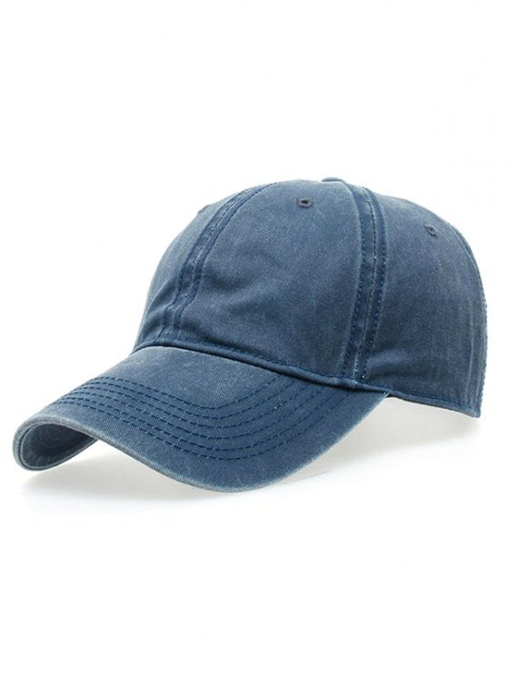 womens Water Wash Do Old Baseball Hat - BLUE