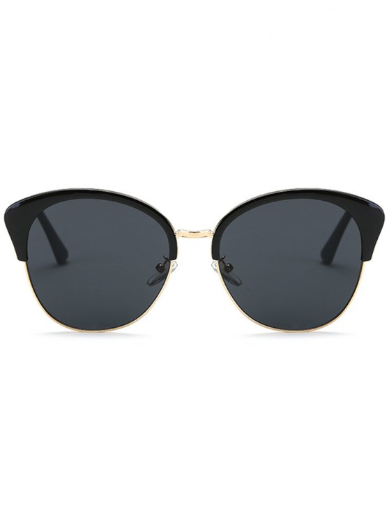Double Rims Butterfly Sunglasses - BLACK  Mobile