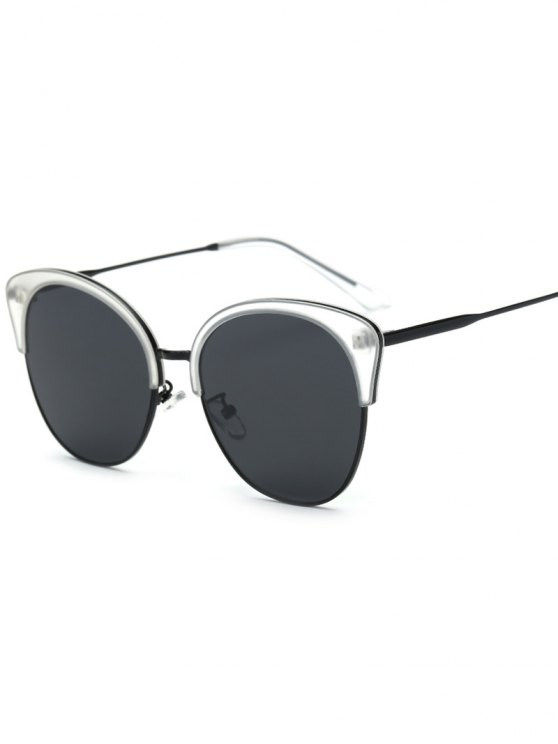 Llantas de doble mariposa gafas de sol - Transparente