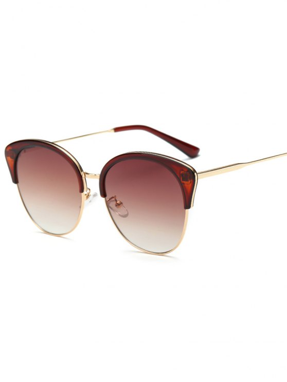 online Double Rims Butterfly Sunglasses - TEA-COLORED