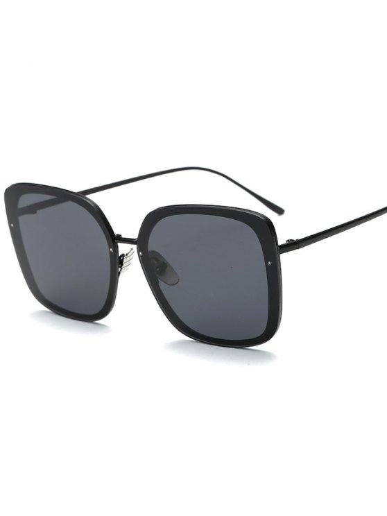 Gafas de sol cuadradas irregulares - Negro