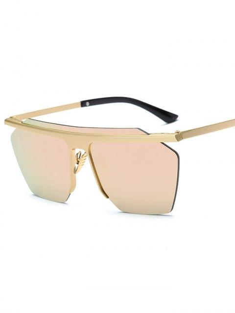 latest Rimless Mirrored Square Sunglasses - PINK  Mobile