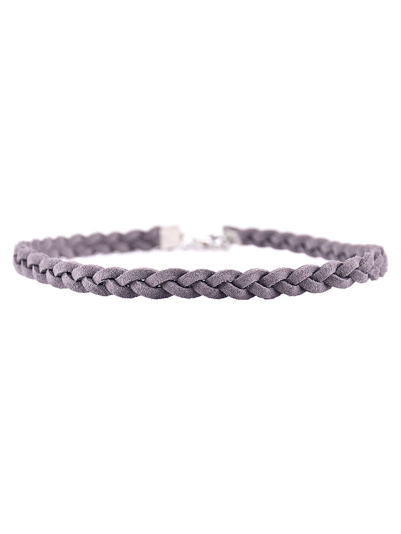 Faux Leather Rope Woven Choker