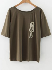 Loose String T-Shirt - Army Green M