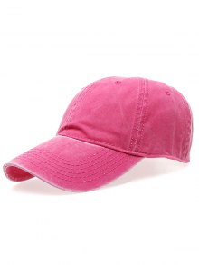 Water Wash Do Old Baseball Hat - Rose Red