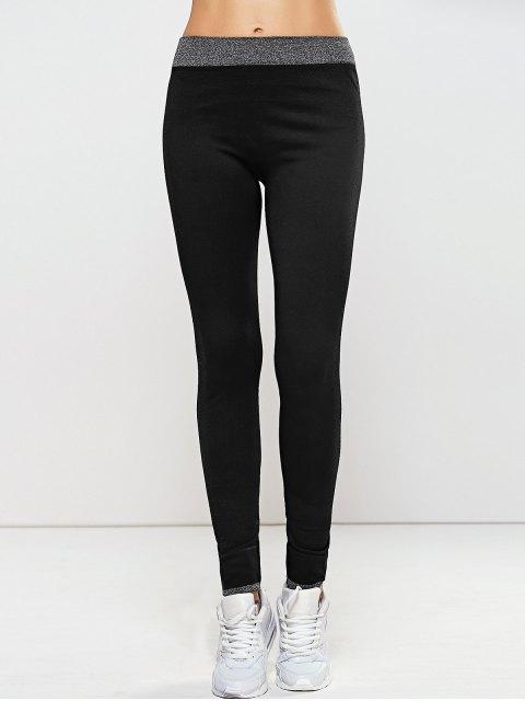 womens Seamless Leggings - BLACK M Mobile