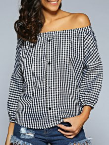 Buy Shoulder Checked Shirt - PLAID ONE SIZE