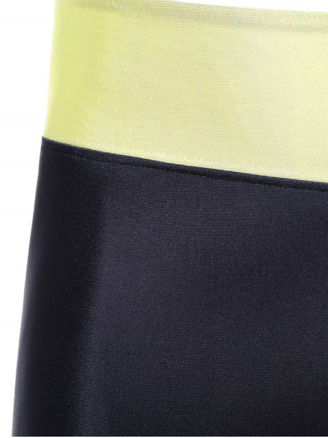 fashion Skinny Cartoon Adventure Time Print Gym Leggings - BLACK ONE SIZE Mobile