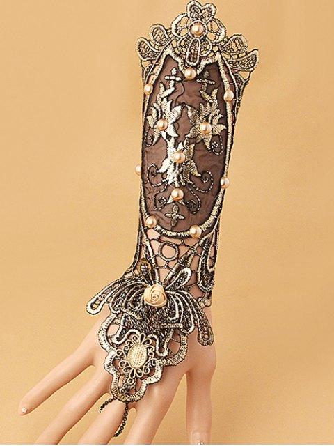 online Faux Pearl Lace Up Glove Bracelet - COLORMIX  Mobile