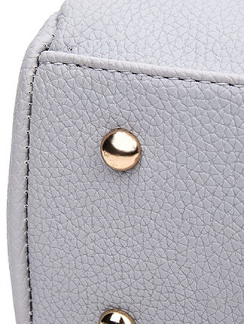 hot Textured PU Snake Print Tote Bag - BROWN  Mobile