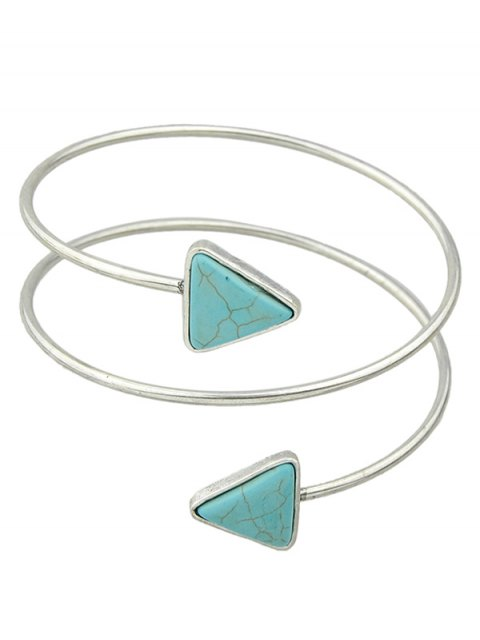 lady Triangle Faux Turquoise Arm Chain - SILVER  Mobile