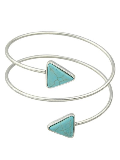 Triangle Faux Turquoise Arm Chain - SILVER  Mobile