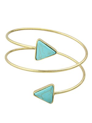 Triangle Faux Turquoise Arm Chain - Golden