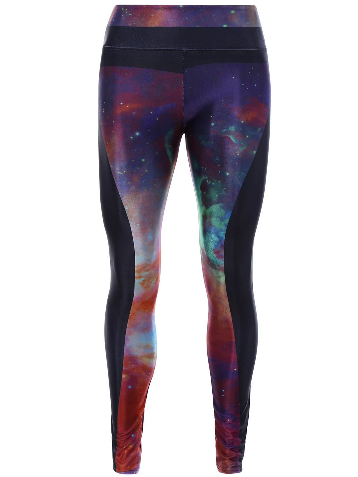 3D Starry Sky Print Skinny Yoga Leggings