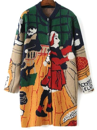 Cartoon Print Cute Cardigan