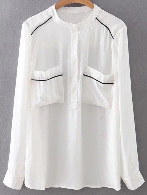 Double Pockets Chiffon Shirt