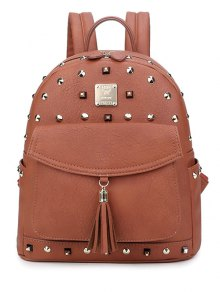 Tassels Magnetic Closure Rivets Backpack