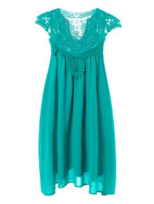 Plus Size Lace Chiffon Dress
