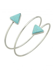 Triangle Faux Turquoise Arm Chain