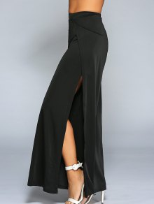 High Slit Wide Leg Pants