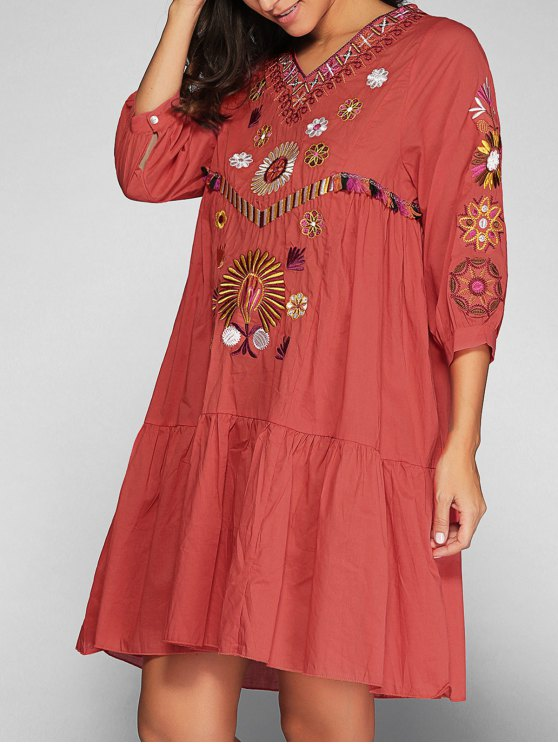 outfits Embroidered Smock Dress - JACINTH S